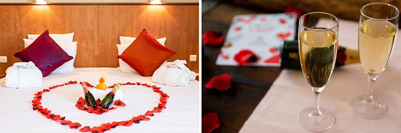 hotel forfait chabada chambre plat